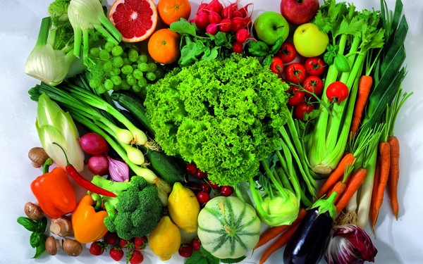 The effects of vegetables and fruits with human health