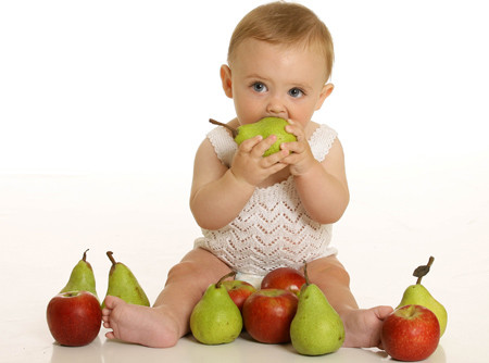 The fruits and vegetables is good for your baby nutritious